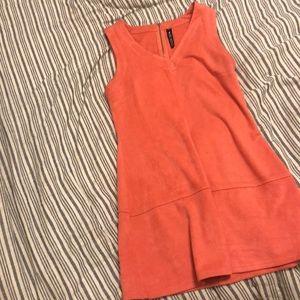 SOFT DESIGN LAB FAKE SUEDE DRESS